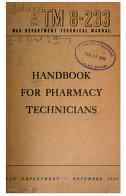 Cover of: Handbook for Pharmacy Technicians